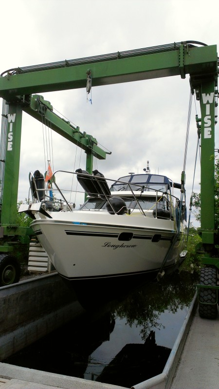 Another boat hauled out for cleaning and antifoul