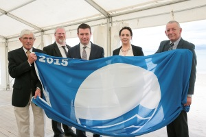 NO REPRO FEE...FREE PIC Minister Alan Kelly, Minister for the Environment and local Government,  at The An Taisce 2015 Blue Flag and Green Coast awards on Ballinskelligs Beach, Co Kerry.Photo:Valerie O'Sullivan/FREE PIC