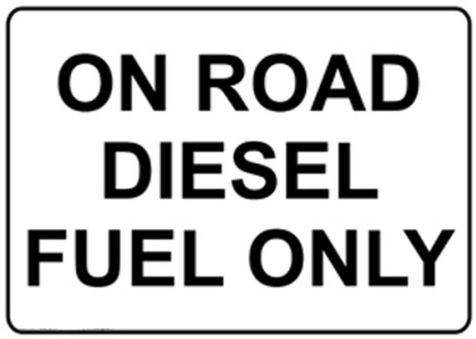 On road diesel fuel only